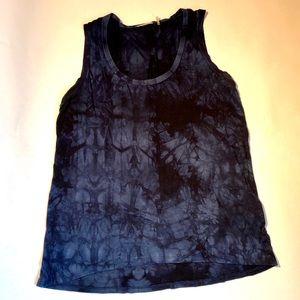 Tahari rayon tie dyed tank dark blue and black